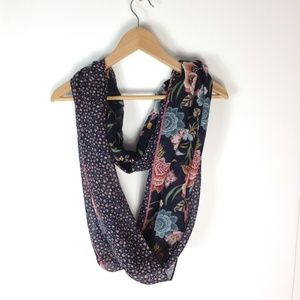 Loft floral print infinity scarf